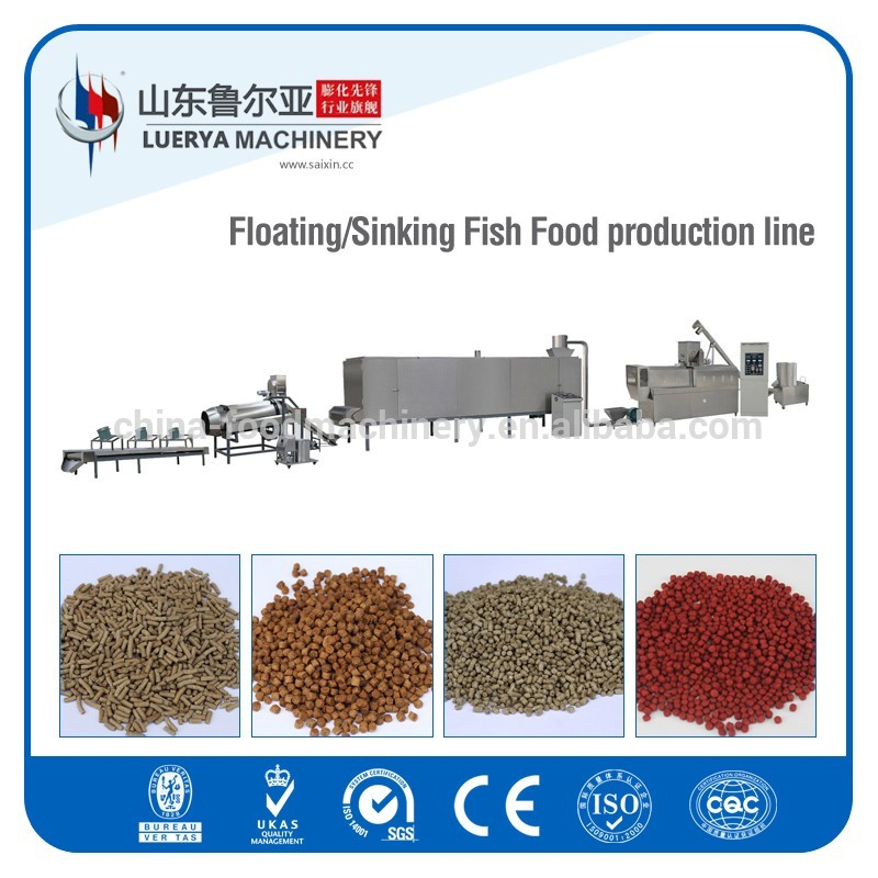 Floating fish feed making machinery with new design machine