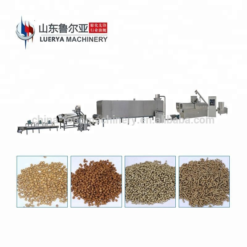 Pet food processing machine production line with packaging machine
