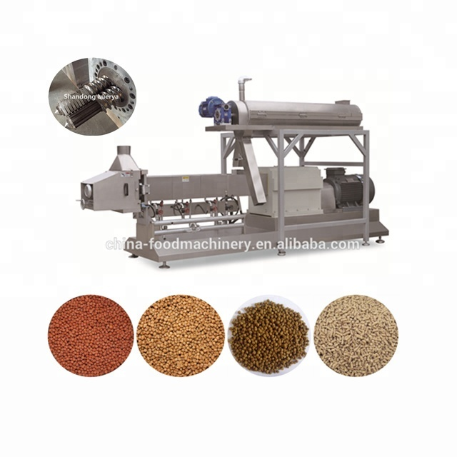 New type wet cat food extruder machine with direct driving system