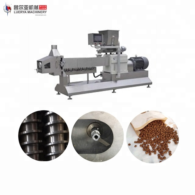 Hot sale full automatic pet / dog / cat food making machines