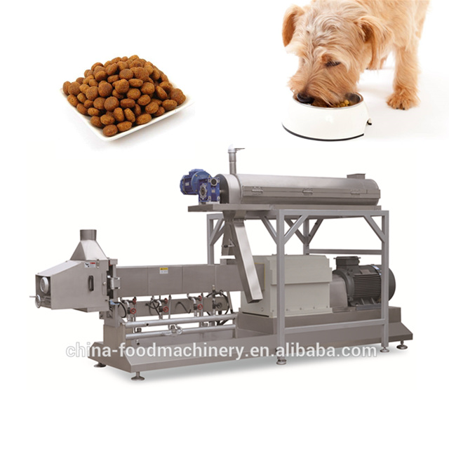 Pet dog food machine / extruded snack machine from Jinan Luerya suppl